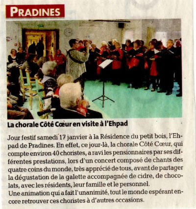 Concert EHPAD Pradines le 17 01 2015